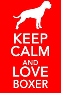 Keep Calm And Love Boxer